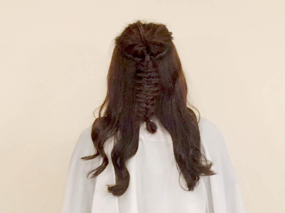 どんな髪質の人でもオシャレになる!! 外国人風編み込みアレンジの作り方を解説!2
