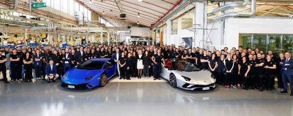 アウトモビリ・ランボルギーニ 生産台数の新記録を達成