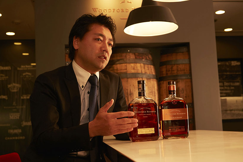↑奥村さん。「ウッドフォードリザーブ」の製造元である、ブラウン・フォーマン ビバレッジス ジャパンのブランドマネージャーとして活躍しています