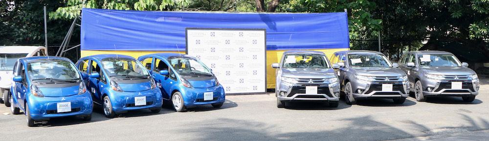 三菱 ィリピン共和国のエネルギー省に電動車を寄贈 アウトランダーPHEV i-MiEV