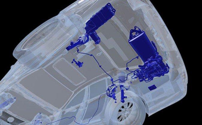 車両下からの視点で内部の機構を確認