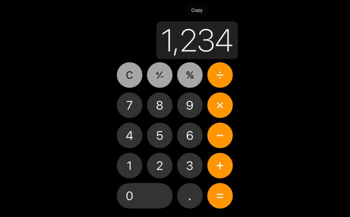 iPhone calculator