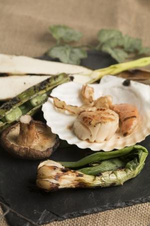 オニオンヌーボー,マコモダケ,そら豆,徳島県産しいたけ,殻つきホタテ貝