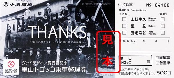 出典:「小湊鐵道」Press Release グッドデザイン賞受賞記念里山トロッコ乗車整理券