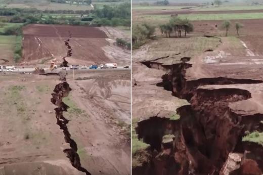 アフリカ 巨大な亀裂