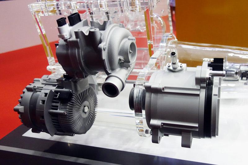 東京モーターショー2017 シェフラー 電動スーパーチャージャー ISG式48Vマイルドハイブリッド