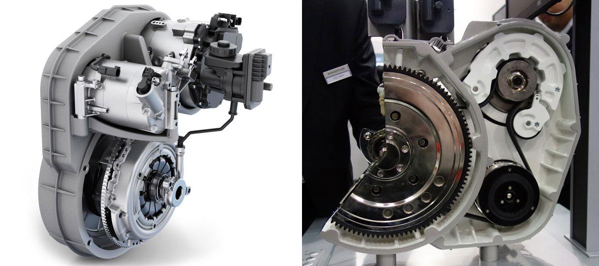 東京モーターショー2017 シェフラー 最新型48Vマイルドハイブリッドユニット