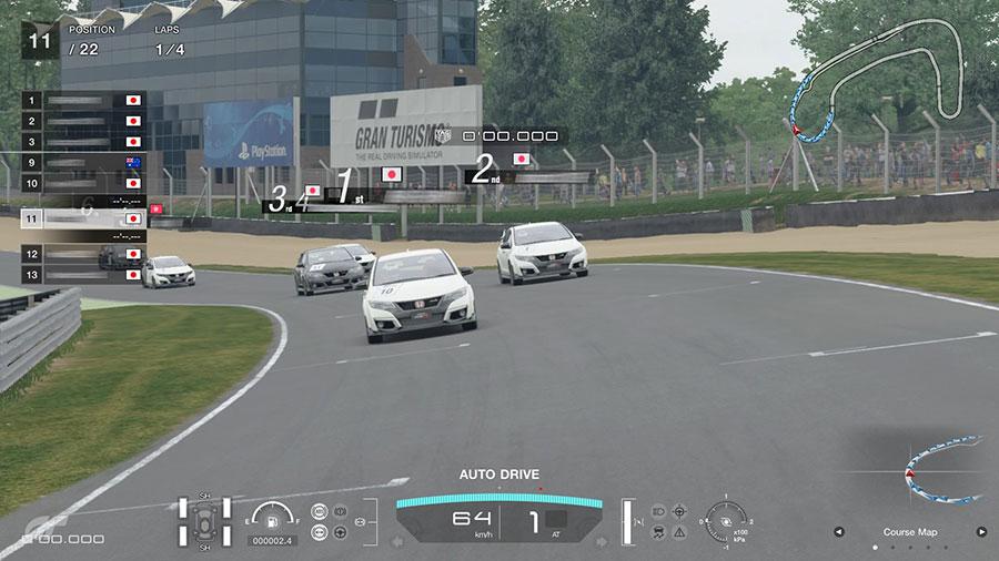 グランツーリスモSPORT リミテッドエディション オンラインレース画面 シビックタイプR