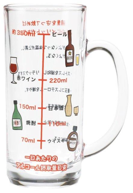 おもしろ食器 アルコール摂取適量 ジョッキ SAN1982