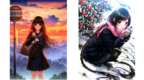 左:和遥キナ『初恋-いつかの帰り道-』(C)和遥キナ 右:和遥キナ『雪椿』(C)和遥キナ