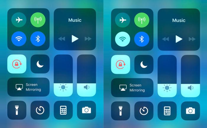 iOS11.2 コントロールセンター