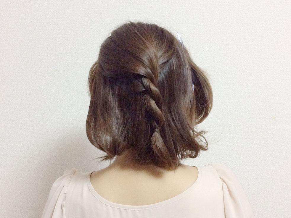 """ヘアアレンジ初心者さんオススメ """"編み込み"""" なしのシンプルまとめ髪が簡単かわいい"""