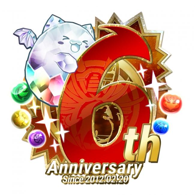 『パズル&ドラゴンズ』6周年記念ロゴ
