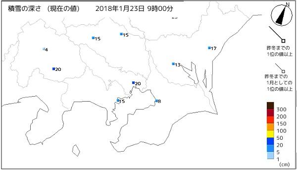 出典:「気象庁」雪の状況