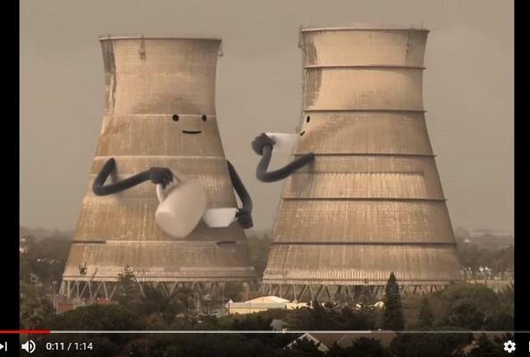 CollapsingCoolingTowerというタイトルの動画の一部。640万回以上再生されています