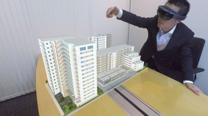 野村不動産、MRデバイス「HoloLens」を不動産販売に活用 現実に物件完成イメージを投影 | Mogura VR