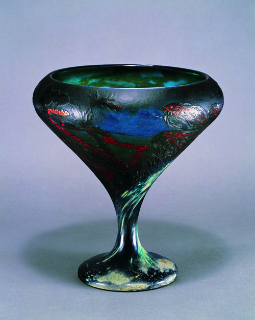 ラゲをモティーフにした作品《くらげ文大杯》1898-1900年サントリー美術館蔵(菊地コレクション)(C)TAKESHI FUJIMORI