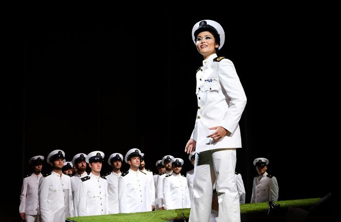 2017年のロッシーニ・オペラ・フェスティバル(イタリア、ペーザロ)にて。オペラ「試金石」の主役、クラリーチェを演じる脇園彩 (C)Studio Amati Bacciardi