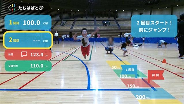 DigSportsで運動能力測定を行う様子