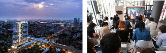 【左】※イメージパース 【右】※メディア向けプロジェクト発表会の様子
