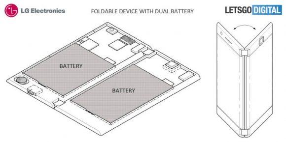 LG 折りたたみ スマートフォン 特許