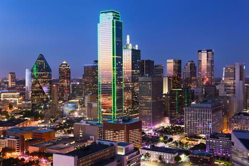 Dallasの夜景(大都会)