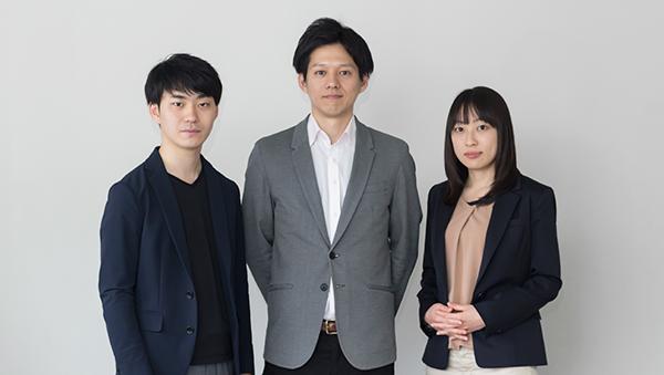 写真左より、アカデミスト CTO 森川公康、同代表取締役CEO・柴藤亮介、同取締役COO・大塚美穂