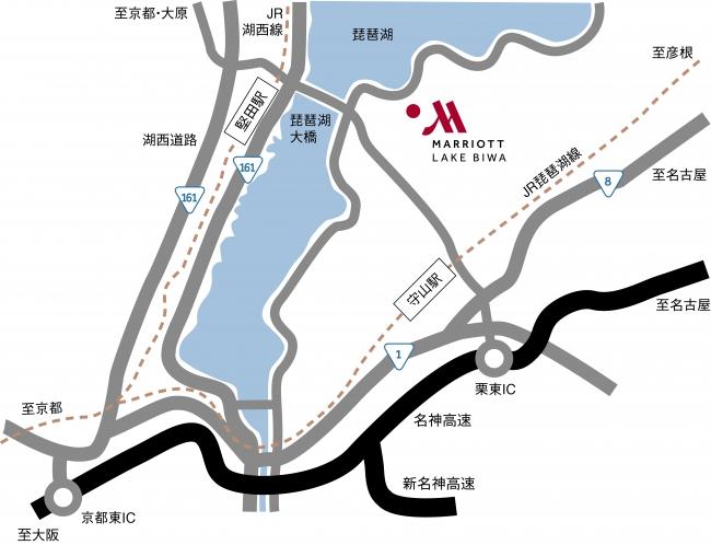 琵琶湖マリオットホテル アクセスマップ