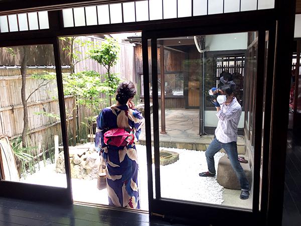 築100年を超える京町家「夢館 御池別邸」は浴衣姿の撮影にもぴったりのフォトジェニックなスポットだ