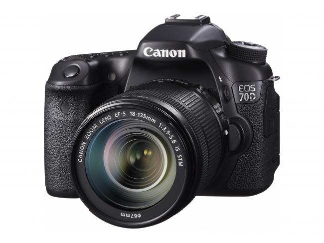 本発明が初めて搭載された一眼レフカメラ  「EOS 70D」(2013年8月発売)