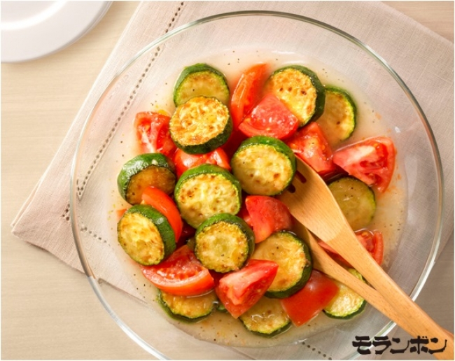 ズッキーニとトマトのマリネソース:調理例