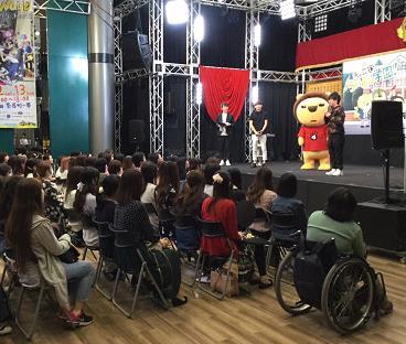 梶裕貴&山下大輝が軽快なトークで満員の観客を魅了!(MBS本社1階ちゃぷらステージにて))