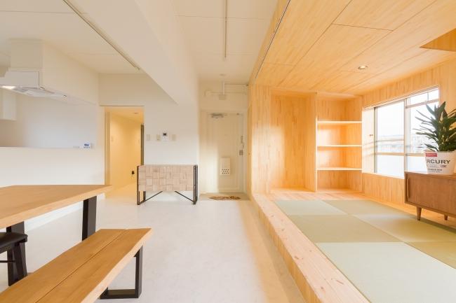 香里三井C団地で実施した2017年度2戸1化リノベーション住戸