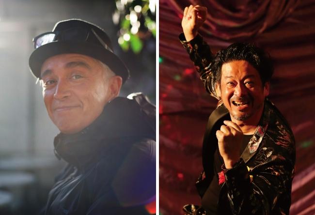 左:マーク・パンサー、右:DJ.SALLY