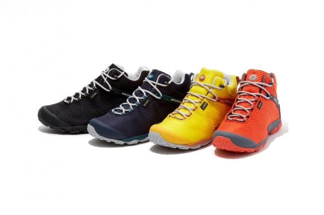【メンズ】(左から)BLACK/BLACK、NAVY/TEAL、DANDELION、SPICY ORANGE
