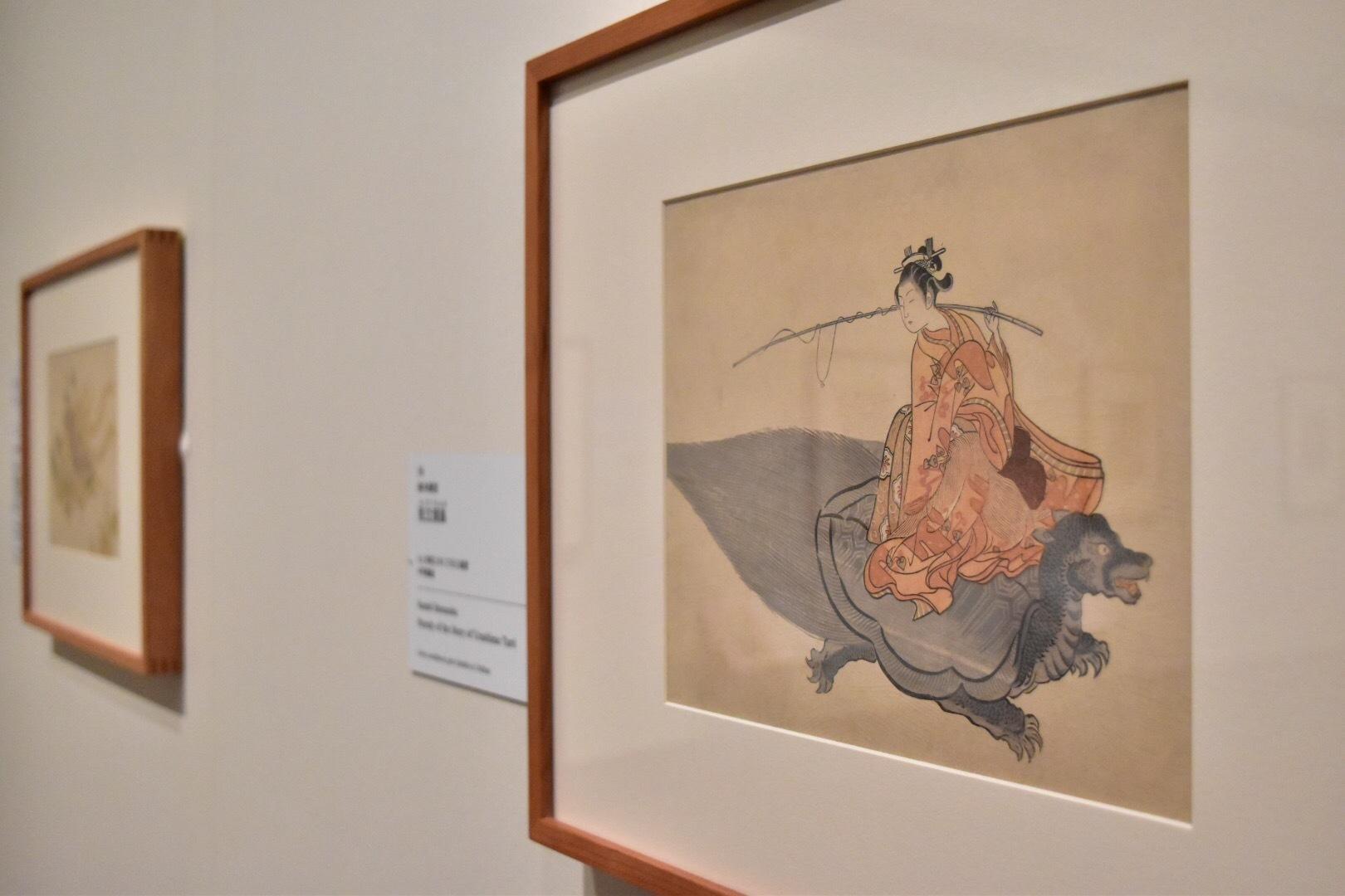 鈴木春信 《見立浦島》 もと明和2年(1765)絵暦 中判錦絵