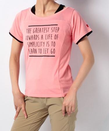 フェイクレイヤードプリントTシャツ