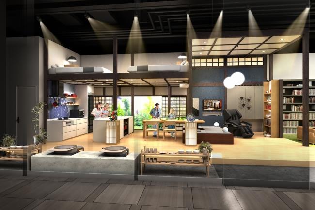 パナソニックセンター大阪が民泊向け住空間展示をリニューアル