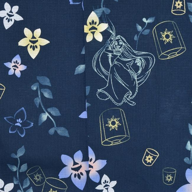 「浴衣 ラプンツェル 藍色 桔梗」(C)Disney