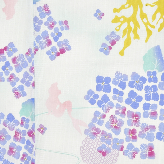 「浴衣 アリエル 白 紫陽花」(C)Disney