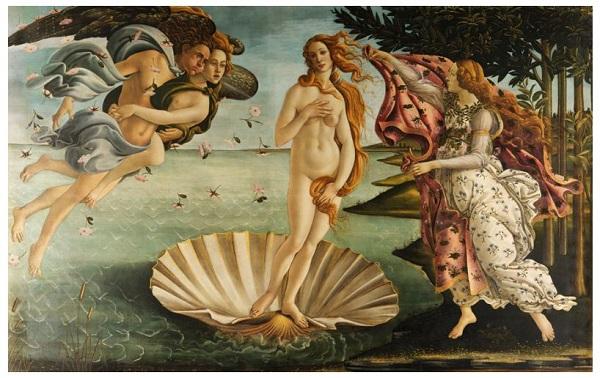 こうなる?と予想された、サンドロ・ボッティチェリの名画「ヴィーナスの誕生」