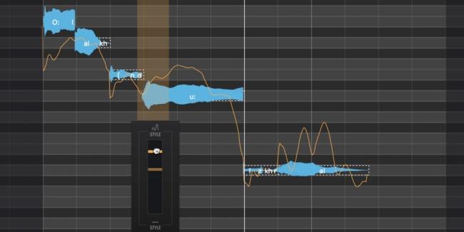 「エモーションツール」が歌い方をビジュアル化