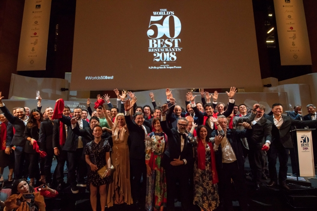 The World's 50 Best Restaurants 2018 授賞式の様子