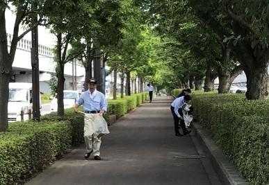 【昨夏の様子】空港内道路