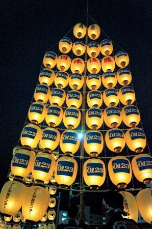 『下肴町竿燈会』の竿燈