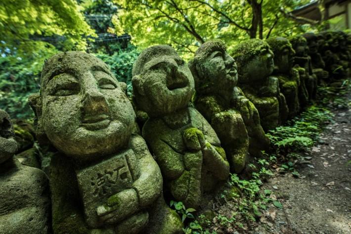 同じ日に撮影した愛宕念仏寺の羅漢像 Twitter/@sakusaku_rada