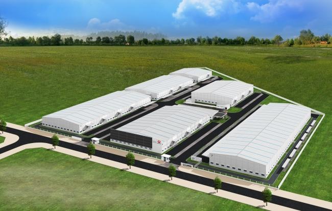 ロンドウック工業団地内のレンタル工場