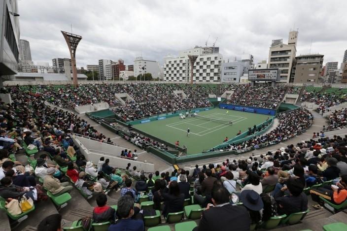 大阪市ITC靭テニスセンターには毎年、次代を担う逸材を観ようと多くの観客が訪れる
