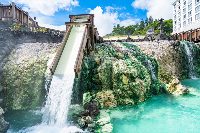 日本三名泉のひとつ草津温泉