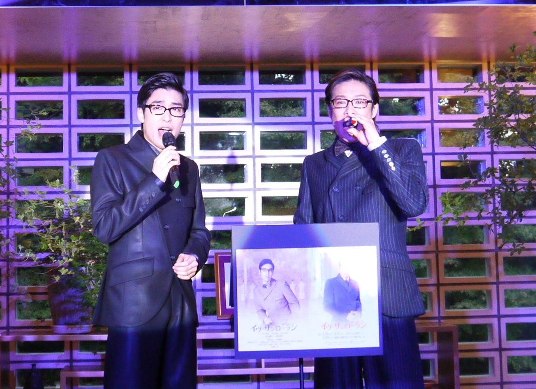 ミュージカル「イヴ・サンローラン」製作発表 写真左から海宝直人、東山義久